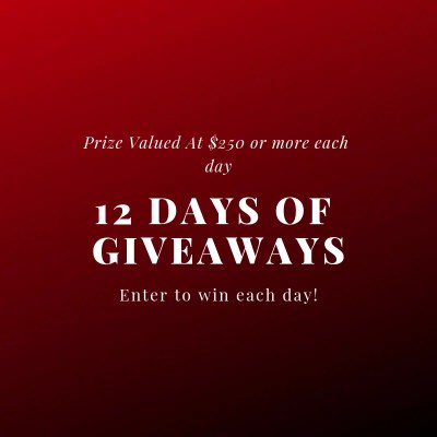 12 Day's of Giveaways! Prize value of $250 each day!