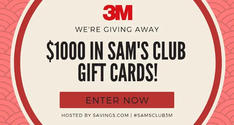 $1000 in Sam's Club Gift Cards Giveaway