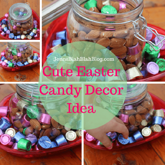 Cute Easter Candy Decor Idea