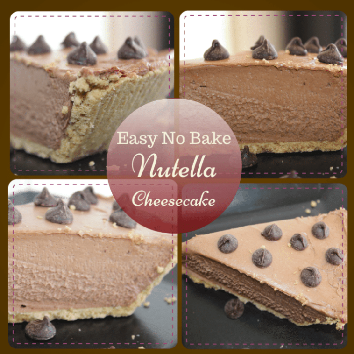 Easy, Nutella No-Bake Cheesecake Recipe