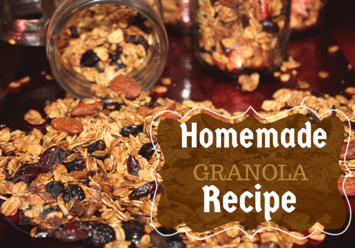 Homemade Granola with oats