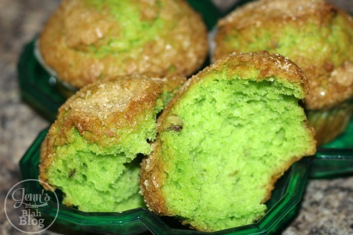 Saint Patrick's Day green muffins