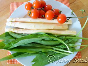 Spargel, Bärlauch, Tomaten