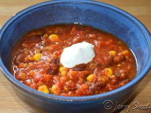 Partygericht: Chili con lentes (vegan)