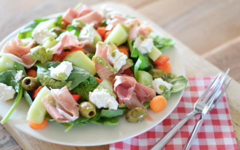 Salade met Parmaham