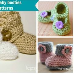 Crochet Baby Booties Diagram Money Origami Pattern Free Patterns