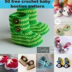 50 Free Crochet Baby Booties Pattern Jennyandteddy