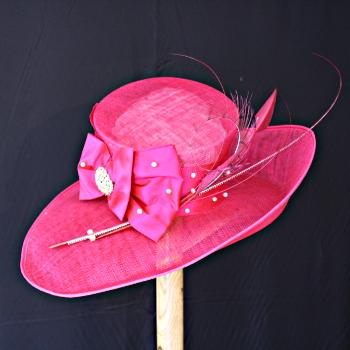 Fuchsia Wedding Hat