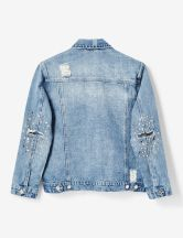 veste en jean avec clous medium blue