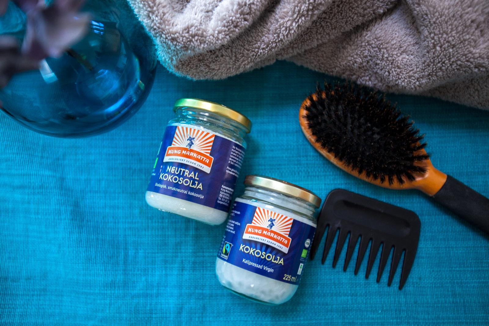kokosolja hår köpa