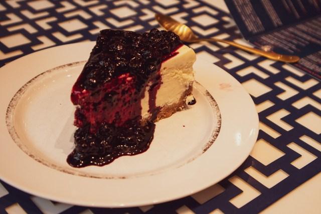 Blåbärscheesecake Jimmy and Joan's New York