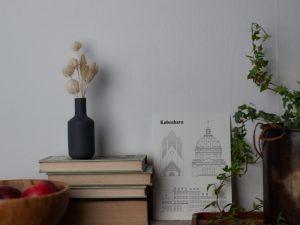 inredning, stilleben, böcker
