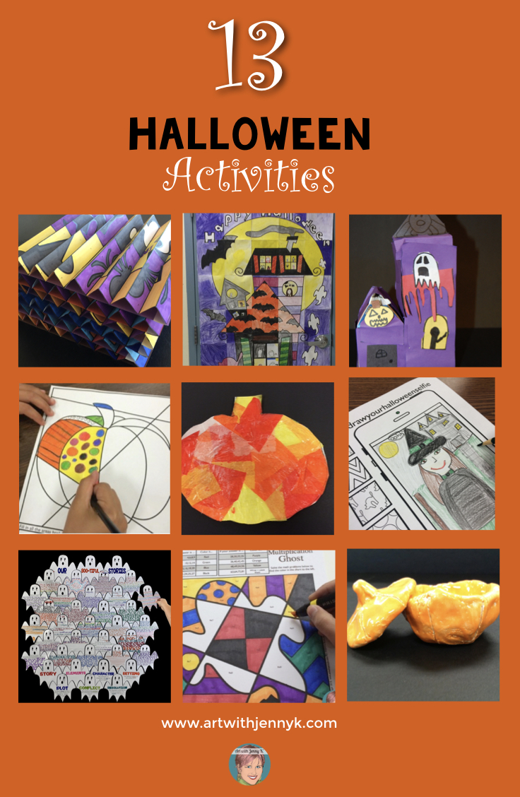 hight resolution of Halloween Art Lessons for your students - something for everyone!