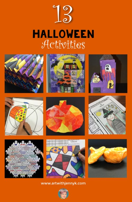 small resolution of Halloween Art Lessons for your students - something for everyone!