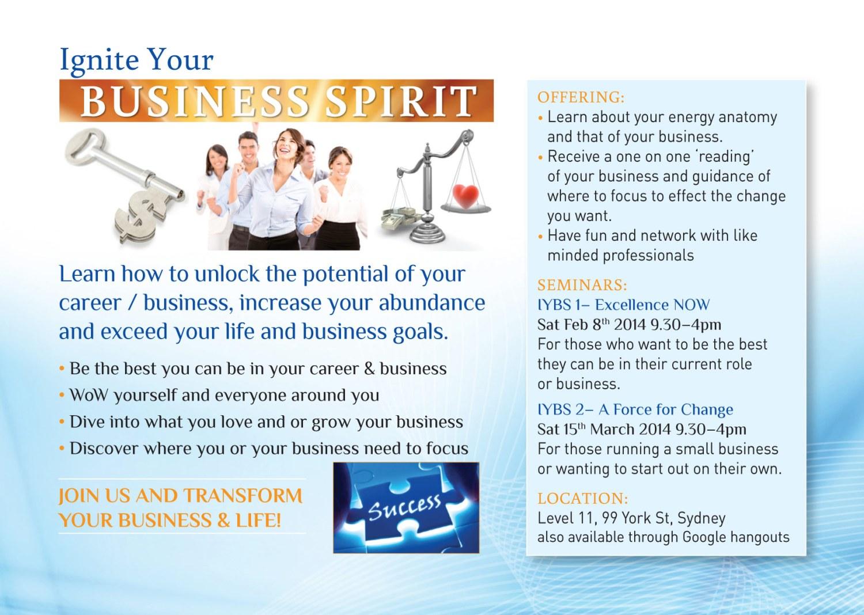Ignite Your Business Spirit