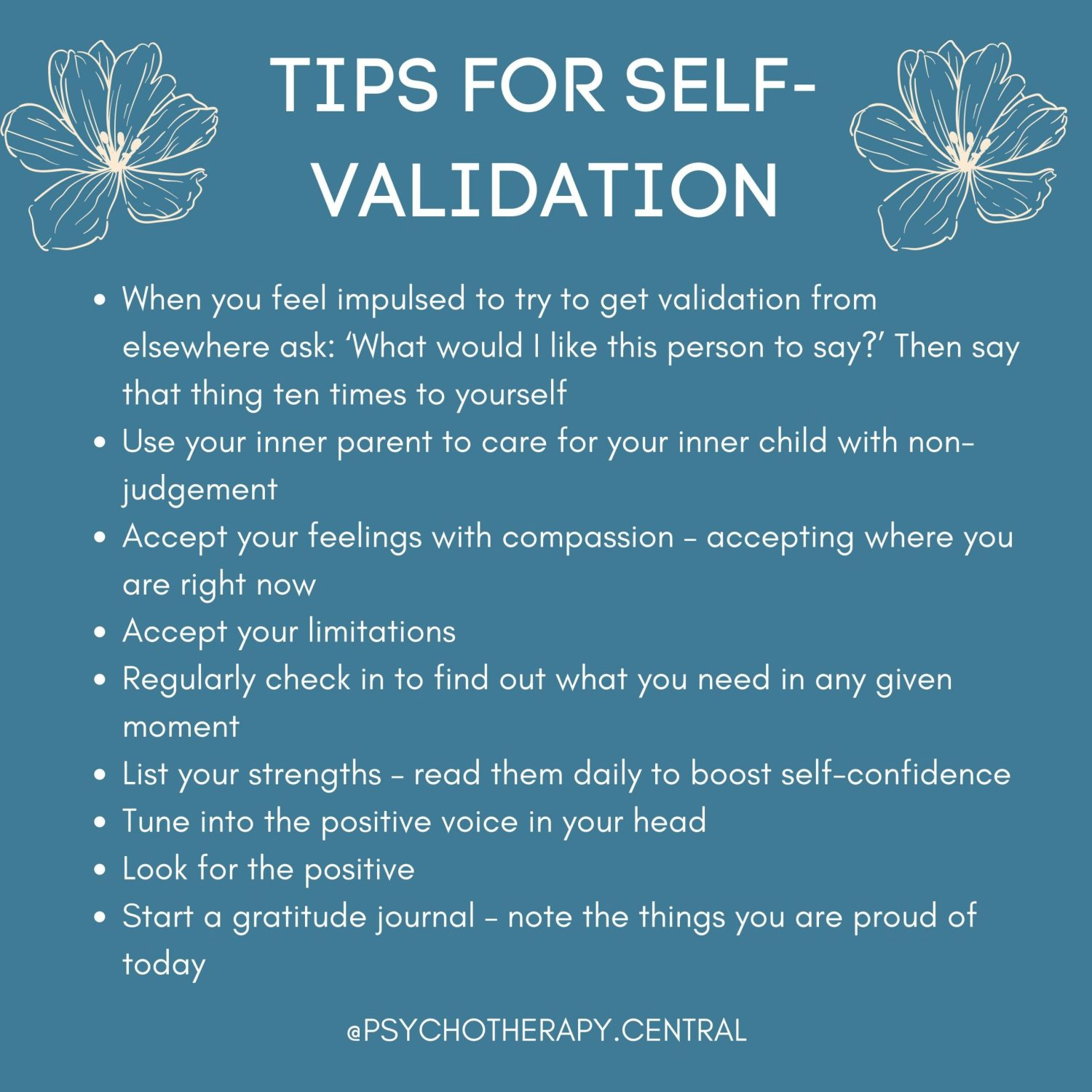 TIPS FOR SELF-VALIDATION