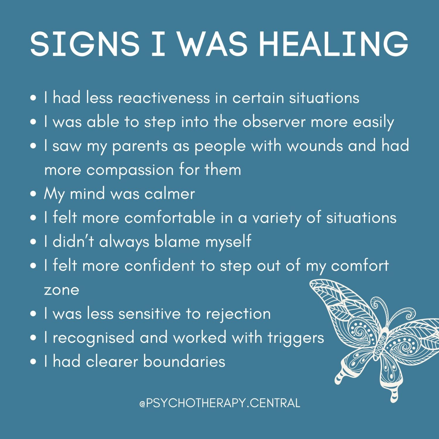 signs I was healing