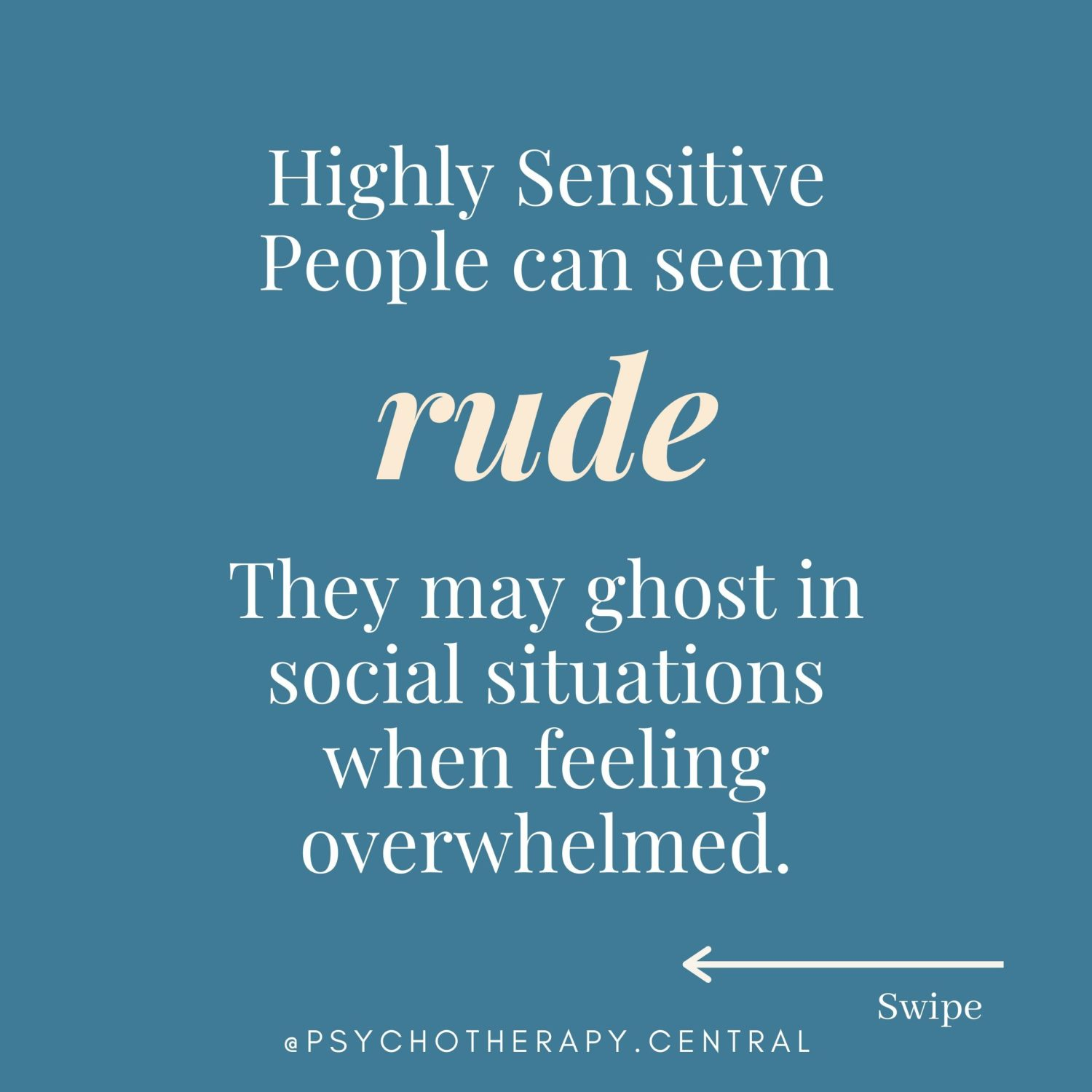 Highly Sensitive people are misunderstood