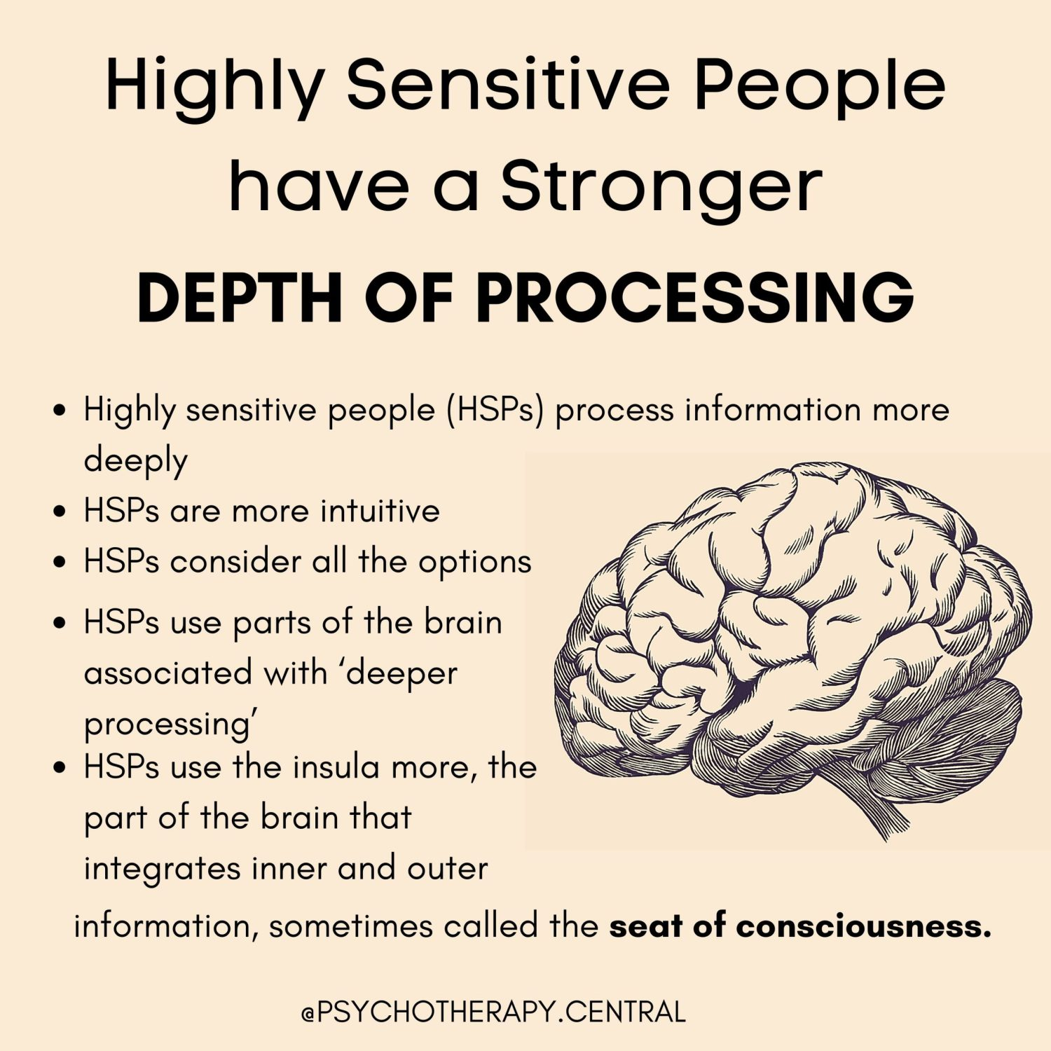 Highly Sensitive People Have a Stronger Depth of Processing