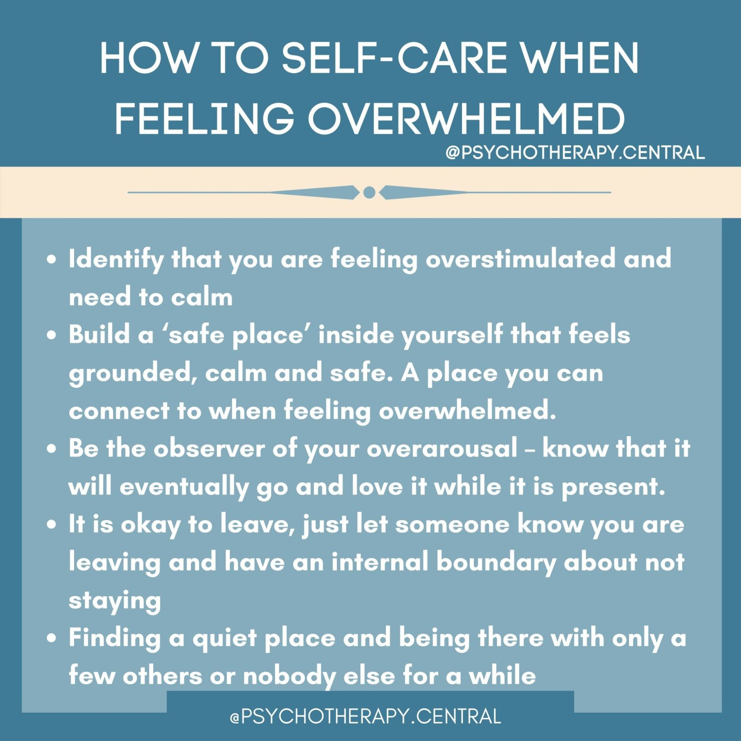 how to self care when feeling overwhelmed