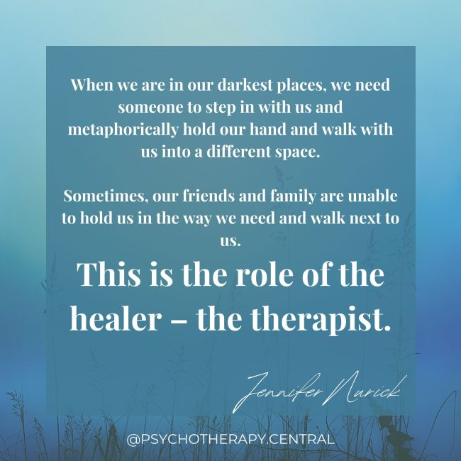 Being in the darkness with a therapist