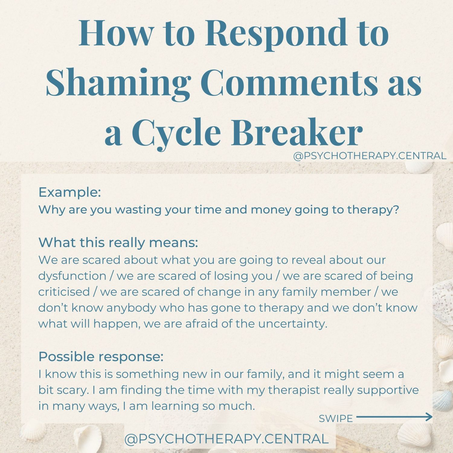 How to Respond to Shaming Comments as a Cycle Breaker