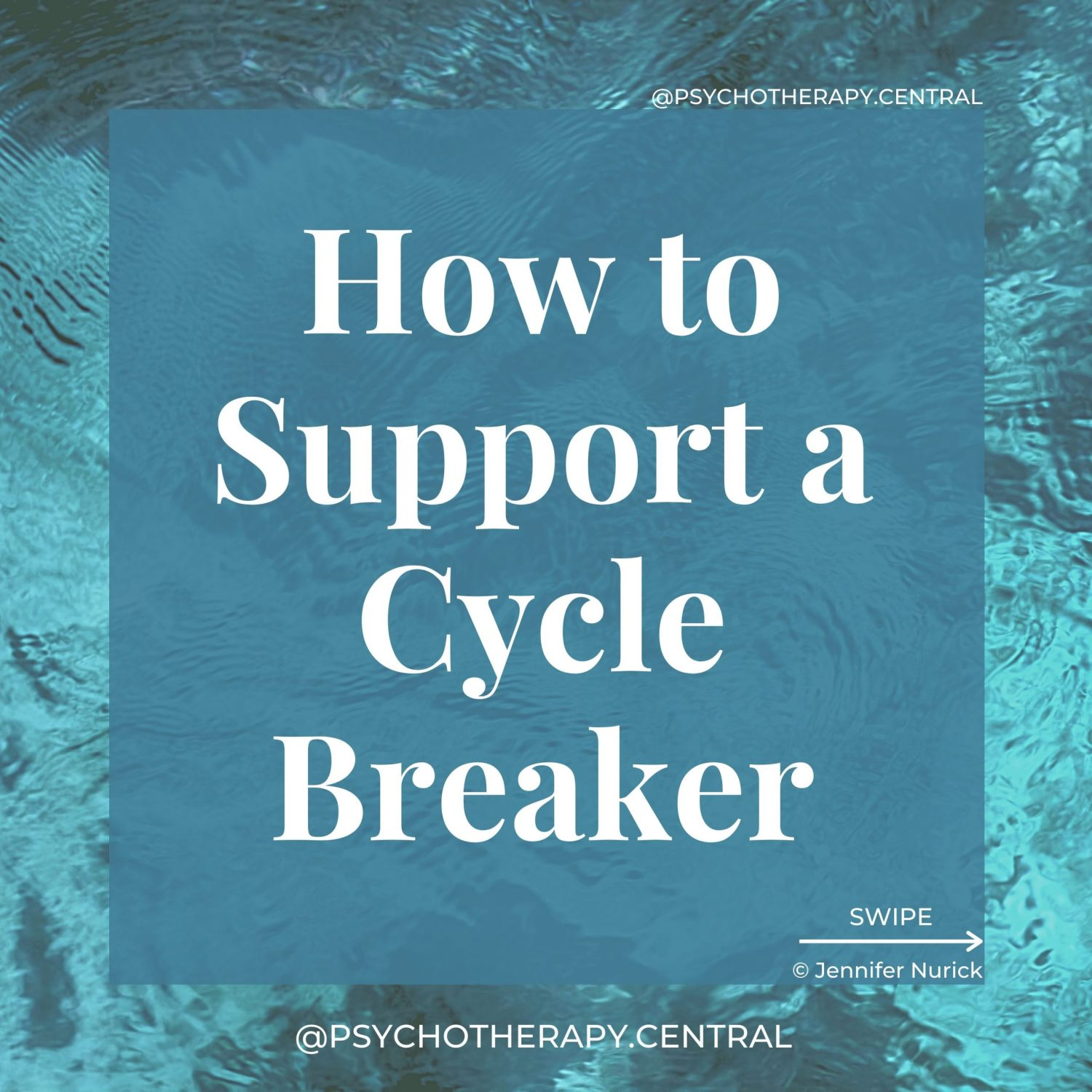 How to Support a Cycle Breaker I made a mistake. I'm sorry. Let's work on the problem. I'm sorry I grew up in chaos, so I raised you the same way. I'm sorry I wasn't there for you. I'm sorry I let you raise MY children as a child yourself. I love you and support you. You are a delight. I like you. I don't understand what you are feeling, but I acknowledge it.