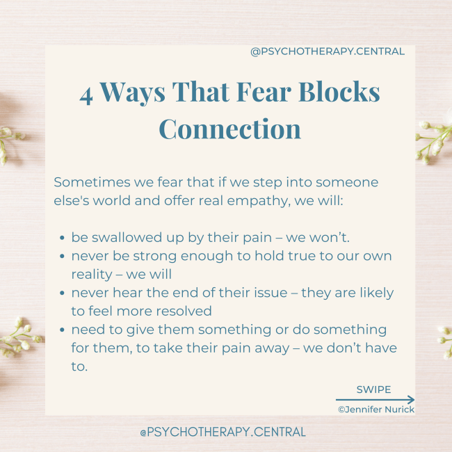 4 ways that fear blocks connection