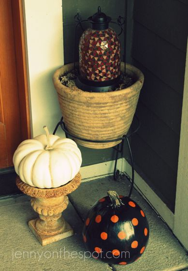 pumpkins on the porch.
