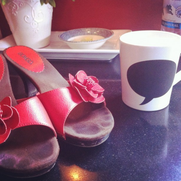 Shoes on the counter