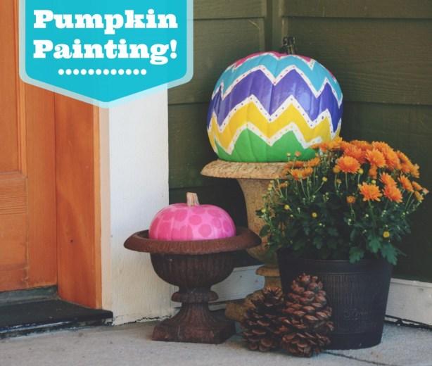 Pumpkin painting via @jennyonthespot