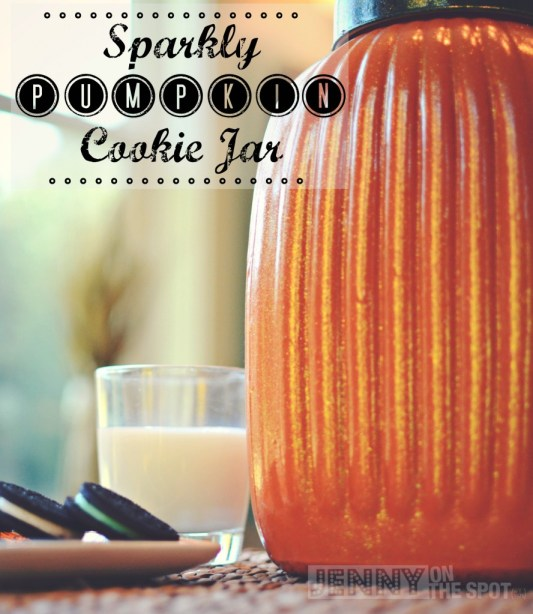 Halloween Costumes: Sparkly Pumpkin Cookie Jar by @jennyonthespot