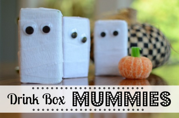 Halloween Treats: Drink Box Mummies by @jennyonthespot