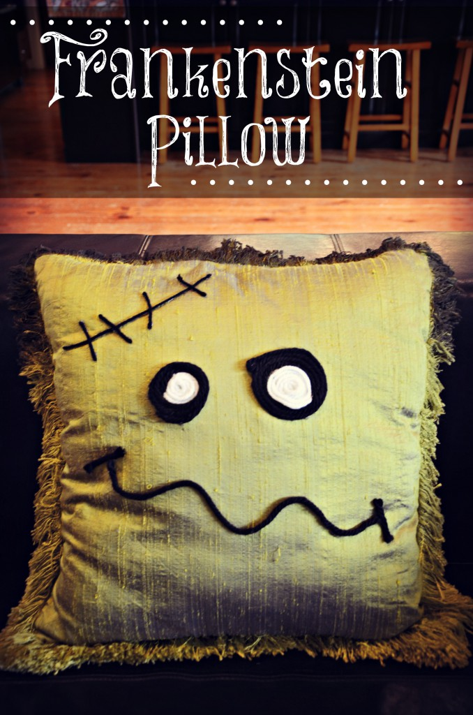 Halloween Decor: Frankenstein pillow by @jennyonthespot