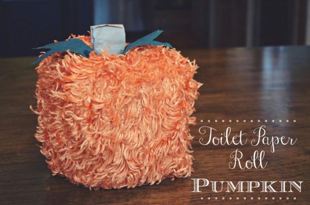 Toilet Paper Roll Pumpkin by @jennyonthespot