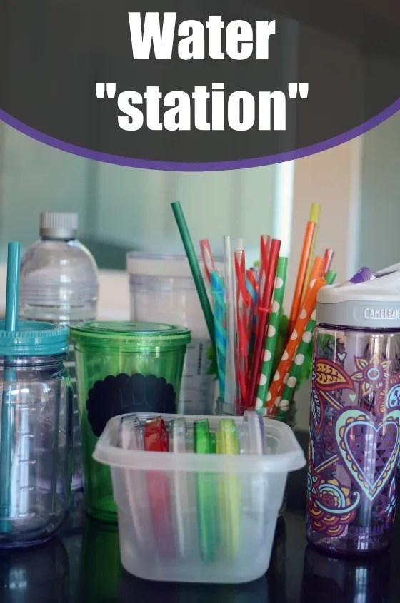 Back To School Water Station... make taking water an easy choice