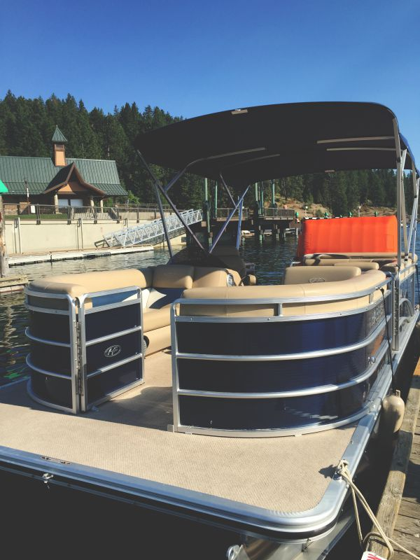 pontoon boat via Vacation Rental Authority on Lake Coeur d'Alene