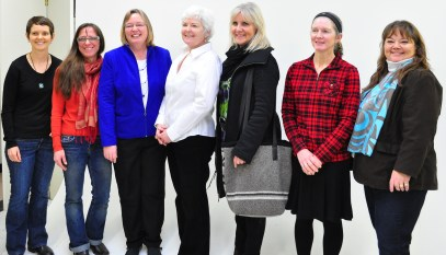 The Sono Nis authors with Diane Morriss