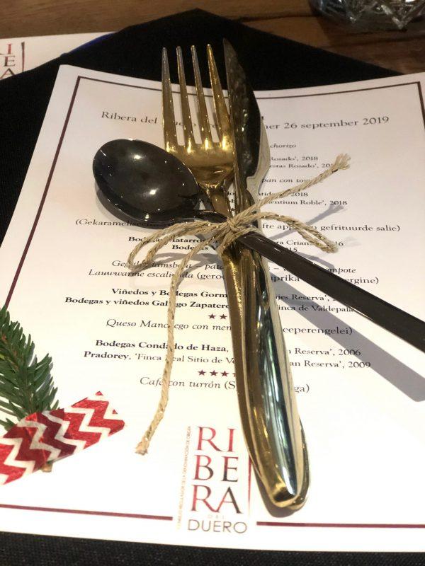 Ribera del Duero pre kerstdiner menu