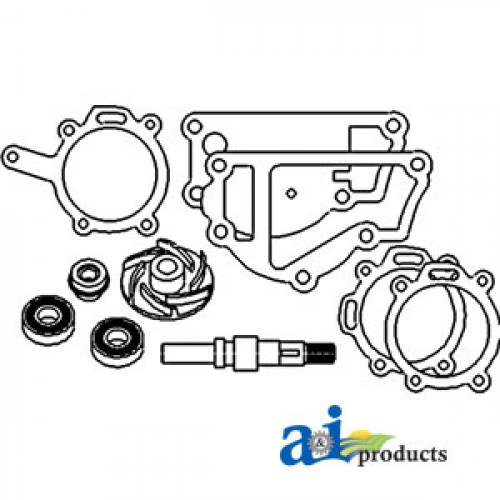 Renault 70-34PA Tractor Water Pump Repair Kit (W/ A4.236