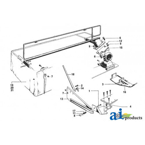 Vicon CM165 Disc Mower Curtain, Disc Mower (Series 14013