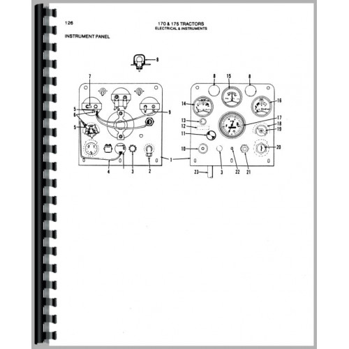 Allis Chalmers 170 Tractor Parts Manual