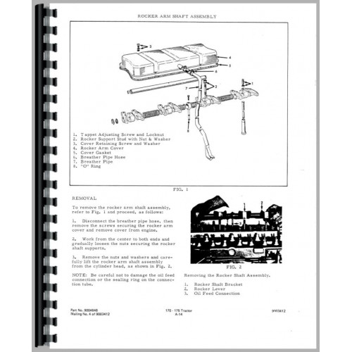 Allis Chalmers 170 Tractor Service Manual