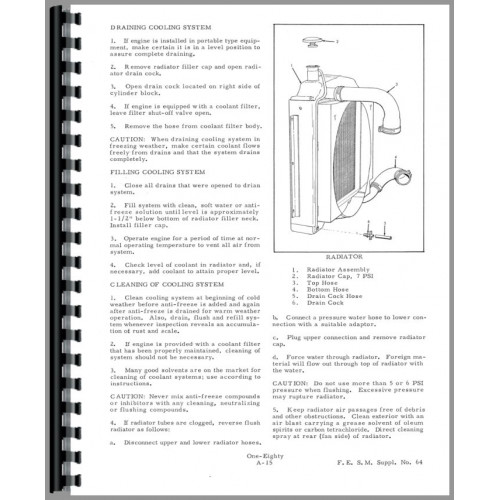 Allis Chalmers 180 Tractor Service Manual (SN# 1001-6643