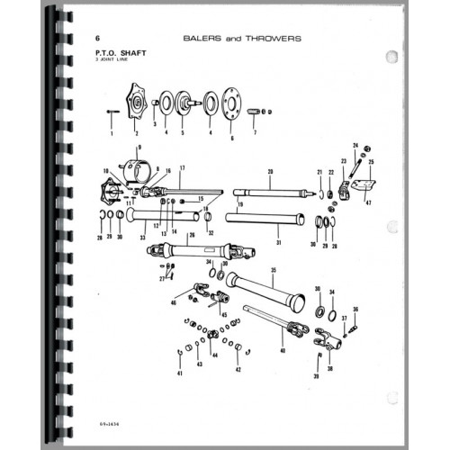 Allis Chalmers 302 Baler Parts Manual
