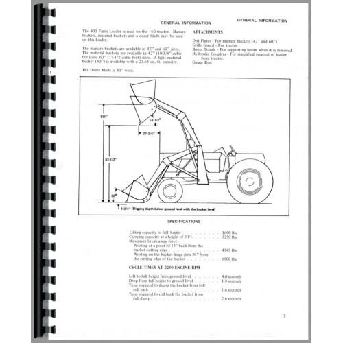 Allis Chalmers 415 Farm Loader Operators Manual