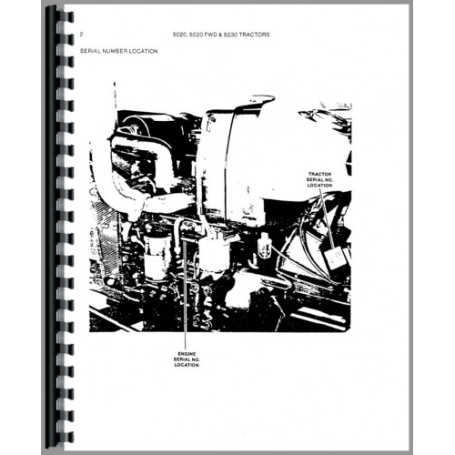 Allis Chalmers 5030 Tractor Parts Manual