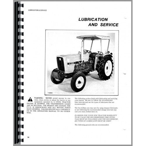 Allis Chalmers 5040 Tractor Operators Manual (w/ 8 & 12 speed)