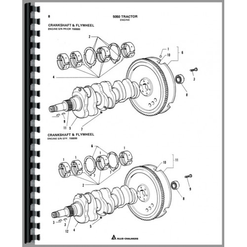 Allis Chalmers 5050 Tractor Parts Manual