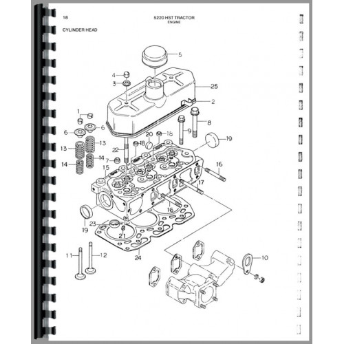 Deutz (Allis) 5220 Tractor Parts Manual (Compact)